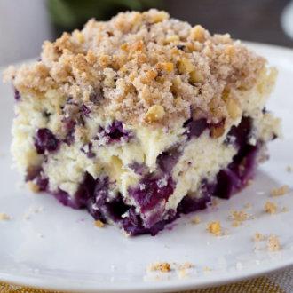 Blueberry Buckle Breakfast Cake